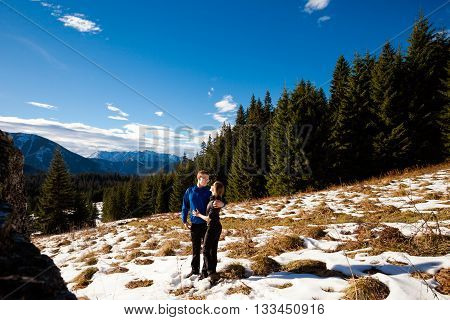Touristis In Slovakian Belianske Tatry