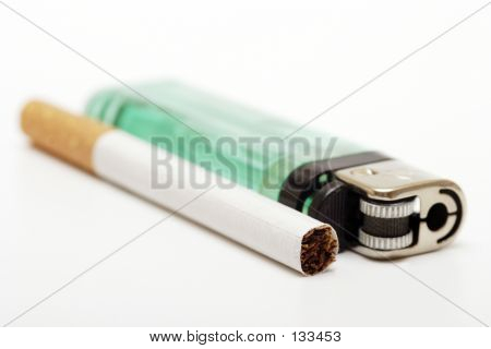 Cigarette And Lighter