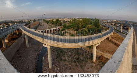Bab e Peshawar is a fly over in Peshawar Pakistan which is the country's second multi-level flyover