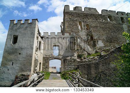 Ruins of castle Kirchschlag in Lower Austria.