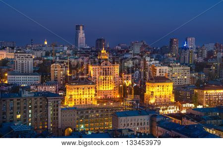 Night Center Of Kiev City, Ukraine