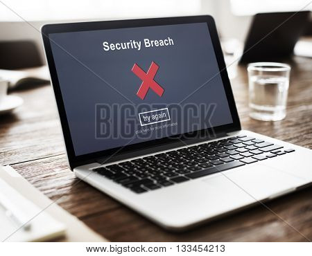 Security Breach Hacker Cyber Crime Privacy Policy Concept