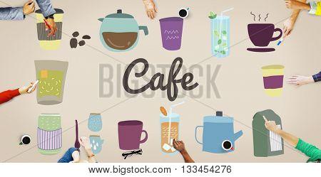 Cafe Restaurant Small Business Bar Coffee Shop Concept