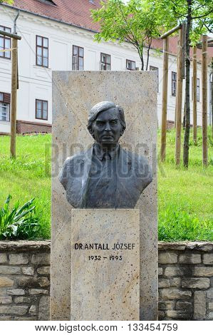 Budapest Hungary - June 04 2016: Statue of Jozsef Antall former Hungarian Prime Minister between 1990 and 1993.