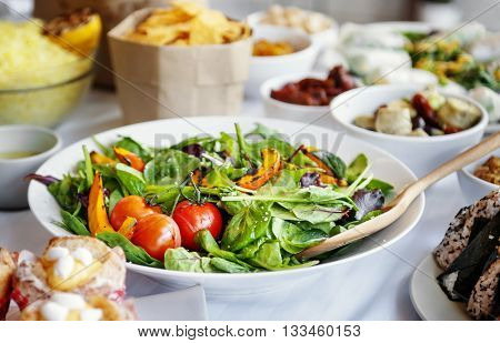 Salad Party Vegetables Buffet Appetiser Concept