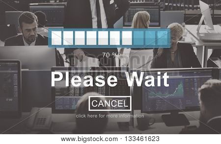 Please Wait Processing Loading Icon Concept