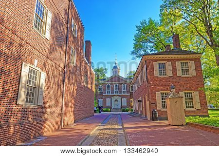 Carpenters Hall In The Old City Of Philadelphia Pa