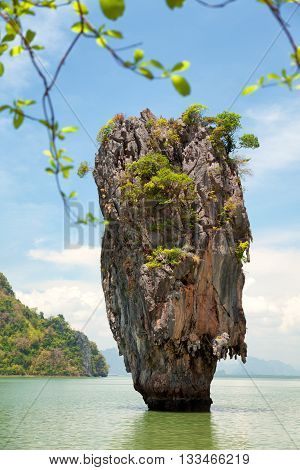 Khao Phing Kan is a pair of islands on the west coast of Thailand in the Phang Nga Bay Andaman Sea near Phuket.