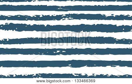 Striped navy blue seamless pattern hand-drawn on white