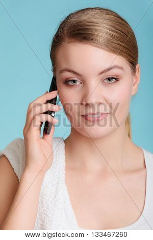 Young Woman Talk On Mobile Phone.