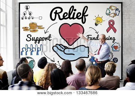 Relief Support Giving Help Pain Relax Aid Break Concept