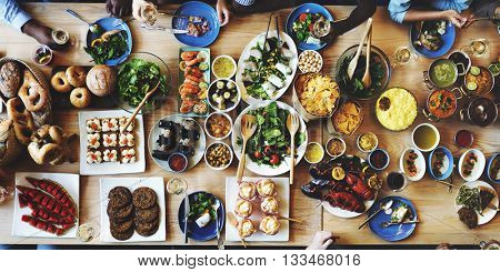 Food Catering Cuisine Culinary Gourmet Buffet Party Concept