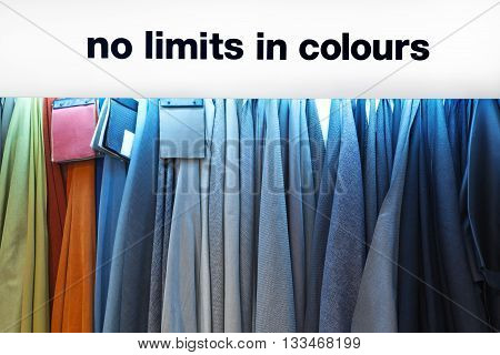 Colorful cloth fabric as a vibrant background image