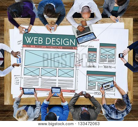 Web Design Internet Layout Technology Homepage Concept