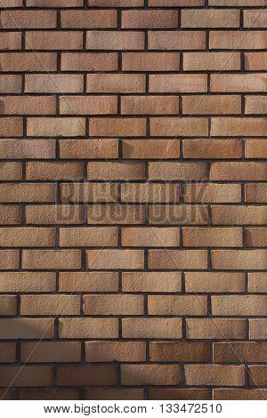 Red brown brick wall