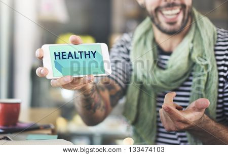 Healthy Lifestyle Nutrition Vitality Wellness Active Concept