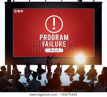 Program Failure Network Problem Technology Software Concept