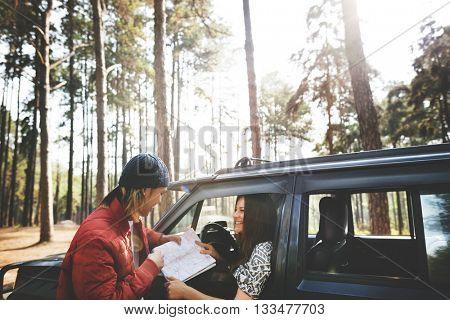 Road-trip Adventure Activity Remote Exploration Concept
