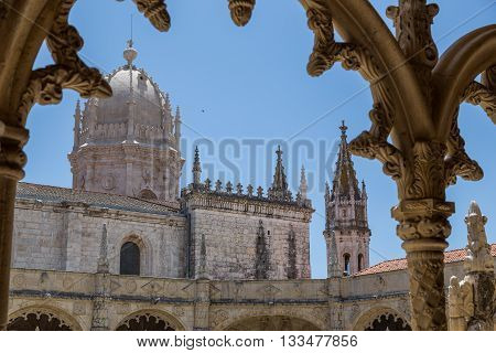 Architecture Details Of The Monastery Or Hieronymites