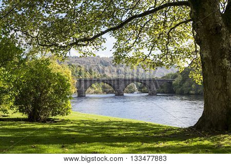 Thomas Telford Bridge over the River tay in Dunkeld Perthshire Scotland