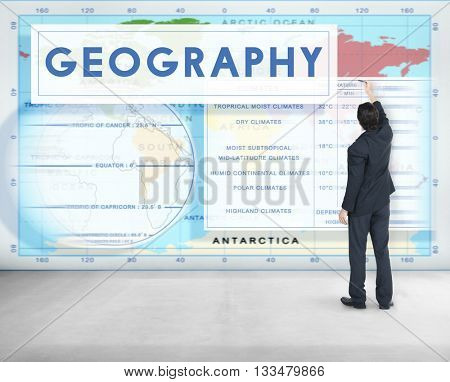 Geography Map World Climate Details Concept
