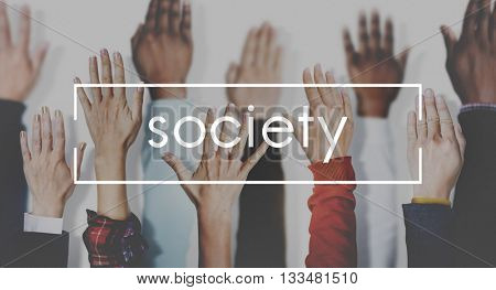 Society Connection Diversity Community Human Hand Concept