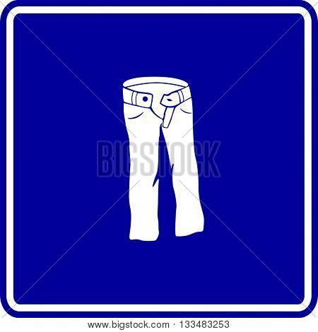 denim pants sign