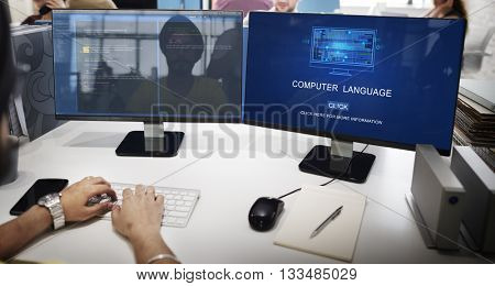 Computer Coding Code Advanced Technology Concept