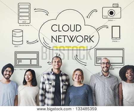 Cloud Sever Transfer Sharing Network Concept