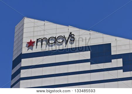 Cincinnati - Circa June 2016: Macy's Corporate Headquarters. Macy's Inc. is one of the Nation's Premier Omnichannel Retailers III