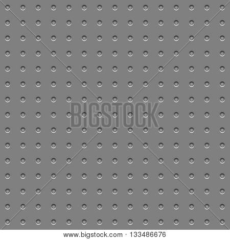 Metal plate with hole pattern industrial vector background.