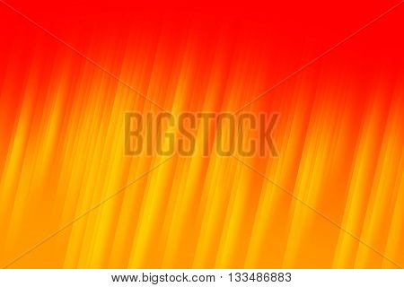 Red and orange light rays used to create abstract background