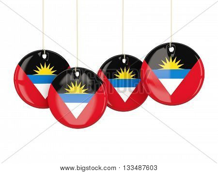 Flag Of Antigua And Barbuda, Round Labels
