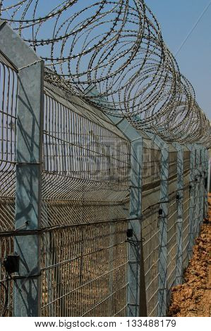 Security fence at the Israeli border with the Gaza Strip