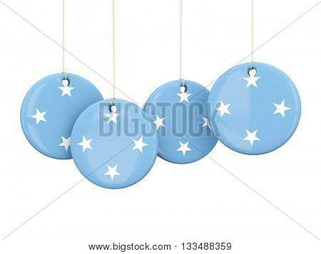 Flag Of Micronesia, Round Labels