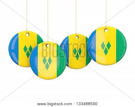 Flag Of Saint Vincent And The Grenadines, Round Labels