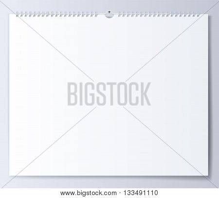 Blank template wall calendar for spring. Illustration in vector format