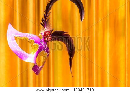 Classical Mask  Floating On Stage Of Life.