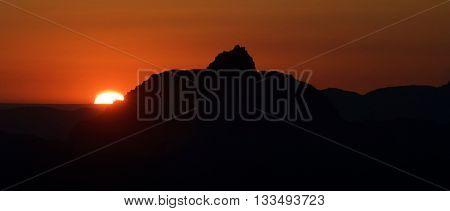 Sunrise in Grand Canyon National Park, Arizona, Usa.