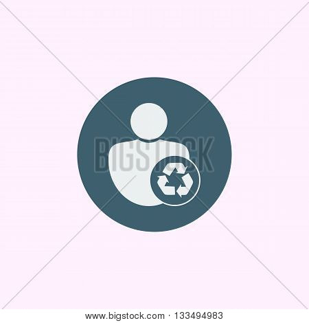 Recycle Icon In Vector Format. Premium Quality Recycle Symbol. Web Graphic Recycle Sign On Blue Circ