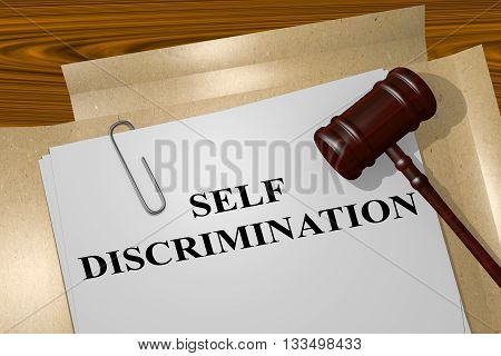 Self Discrimination Legal Concept