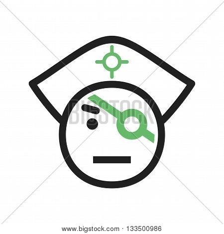 Pirate, hat, eye icon vector image. Can also be used for celebrations. Suitable for use on web apps, mobile apps and print media