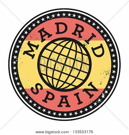 Grunge rubber stamp with the text Madrid, Spain, vector illustration