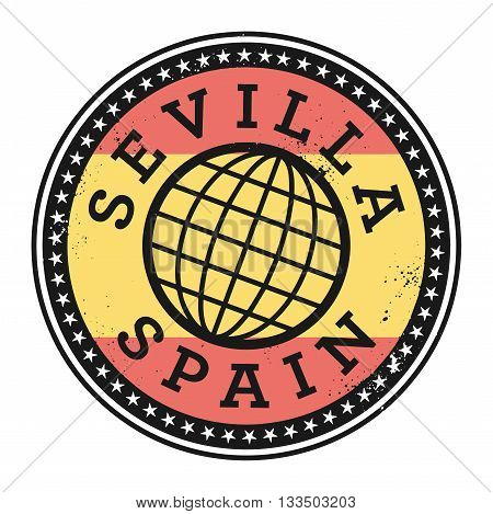 Grunge rubber stamp with the text Sevilla, Spain, vector illustration