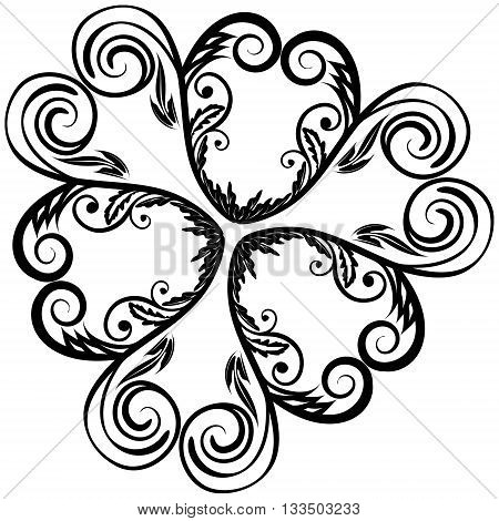 Design element circle floral elegant ornament EPS8 - vector graphics.