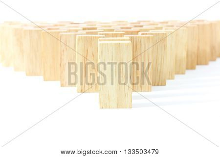 Wooden Domino In Row