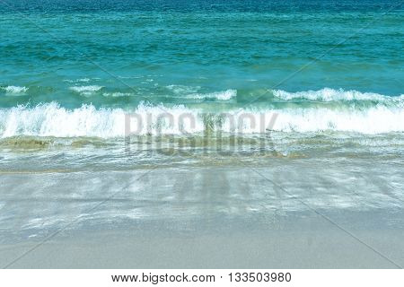 Wave will lapping at the beach. Beautiful nature on the beach