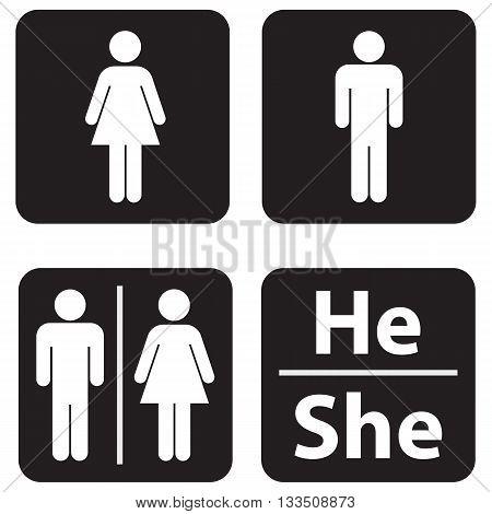 symbol women men public restroom domestic bathroom toilet icon