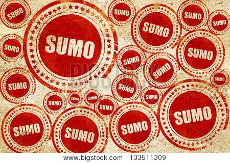 sumo sign background, red stamp on a grunge paper texture