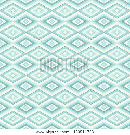 abstract seamless pattern with rhombus like a ethnic fabric style